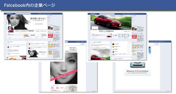 Facebook内の企業ページ