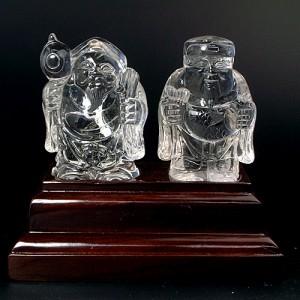 水晶彫刻恵比寿大黒(cycz010-1)