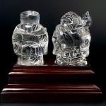 水晶彫刻恵比寿大黒(cycz010-2)