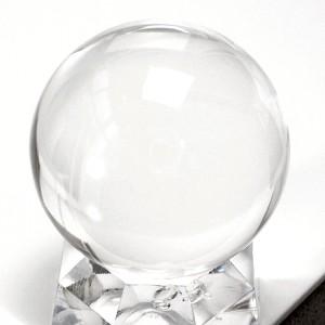 透明水晶丸玉(czbo091-1)