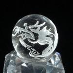 水晶丸玉彫刻 龍(czcb001-1)