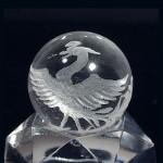 水晶丸玉彫刻 朱雀(czcb005-1)