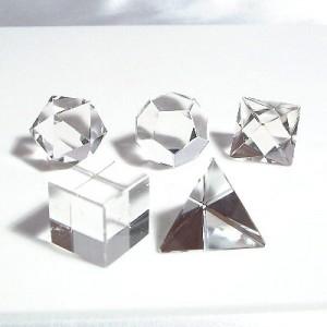 プラトン立体5個セット(czcuset-1)