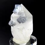 フローライト付き水晶ポイント(flcz009-1)