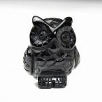 オブシディアン彫刻フクロウ(fuob101-1)