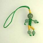 人形型アベンチュリンストラップ(ksdl003-1)