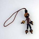 人形型タイガーアイストラップ(ksdl005-1)