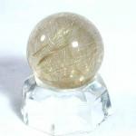 ゴールドルチルクオーツ丸玉(rubo052-1)