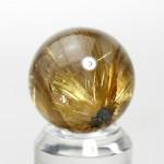 ゴールドルチルクオーツ丸玉(rubo224-3)