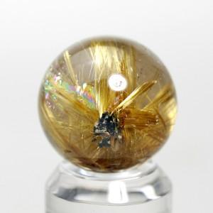 ゴールドルチルクオーツ丸玉(rubo224-1)