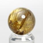 ゴールドルチルクオーツ丸玉(rubo224-4)