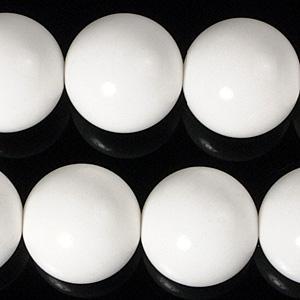 10mmホワイトオニキスビーズ(半連)(rh10_002-1)