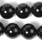 10mmブラックトルマリンビーズ(半連)(rh10_014-1)