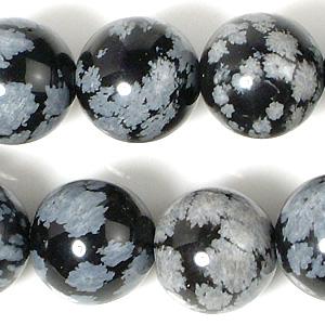 10mmスノーフレークオブシディアン(半連)(rh10_072-1)