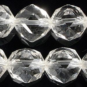 10mmカット水晶ビーズ(半連)(rh10_c001-1)